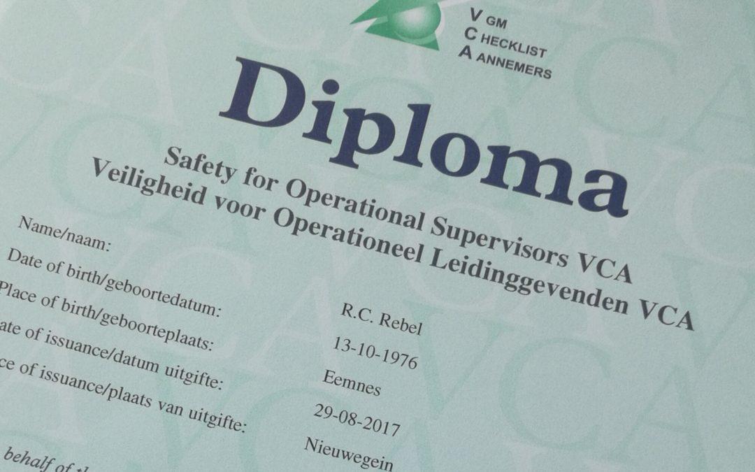 Nieuwe VCA certificering